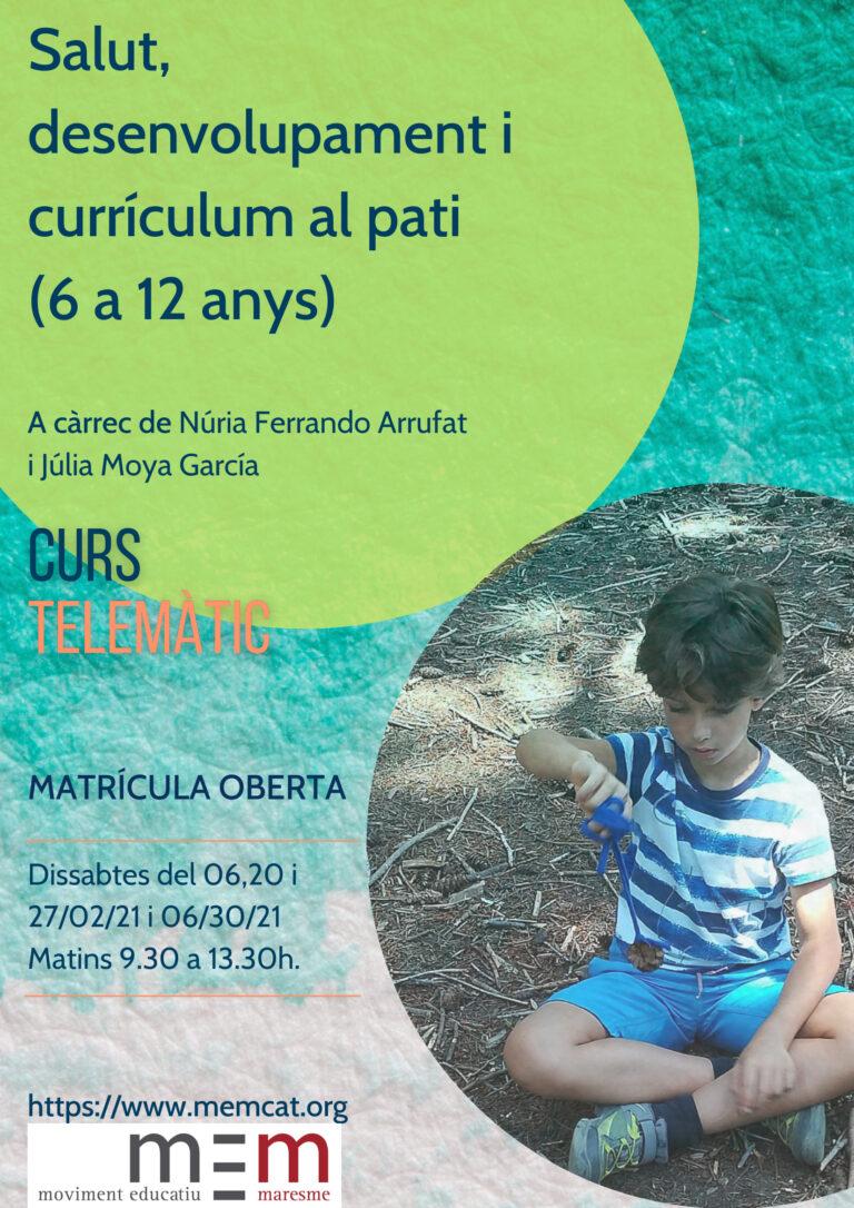 Salut, desenvolupament i currículum al pati (6 a 12 anys)
