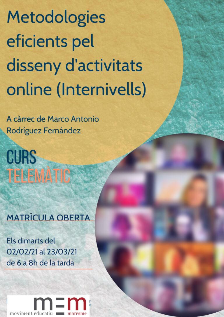 Metodologies eficients pel disseny d'activitats online (Internivells)